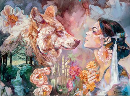 Companions - Frau mit Wolf