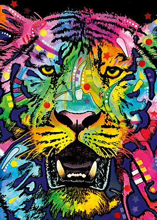 Farbenfroher Tiger