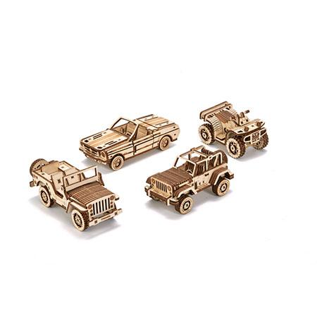 Wood Trick - Fahrzeug-Set