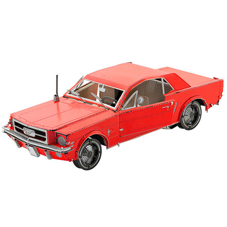 Metal Earth - 1965 Ford Mustang (rot)