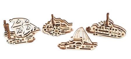 3D Holzpuzzle - Ugears - U-Figdet Schiffe
