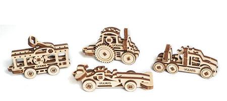 3D Holzpuzzle - Ugears - U-Figdet Fahrzeuge