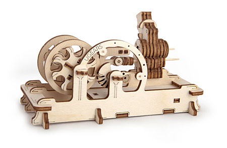 3D Holzpuzzle - Ugears - Druckluftmotor