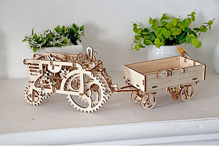 3D Holzpuzzle - Ugears - Anhänger für Traktor