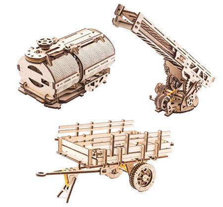 3D Holzpuzzle - Ugears - Erweiterungs-Set für Lastwagen (Chassis)