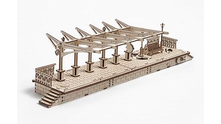 3D Holzpuzzle - Ugears - Bahnsteig