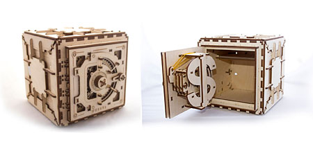 3D Holzpuzzle - Ugears - Tresor
