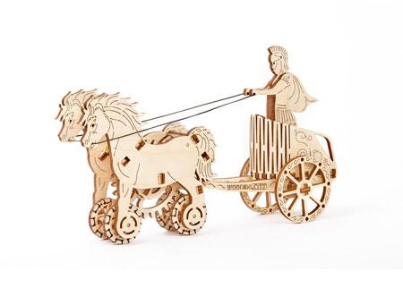 3D Holzpuzzle - Wooden City - Römischer Streitwagen