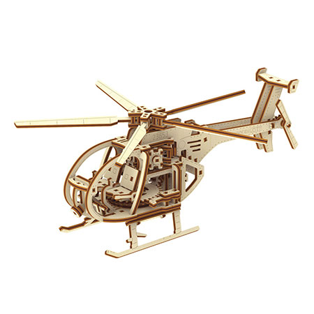 3D Holzpuzzle - Wooden City - Helikopter