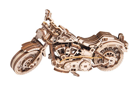 Puzzle 3D Holzpuzzle - Wooden City - Cruiser V-Twin