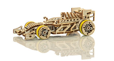 3D Holzpuzzle - Wooden City - Rennwagen