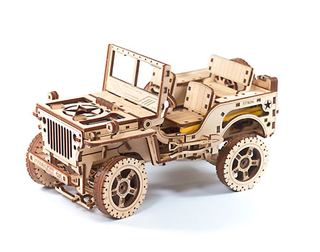 3D Holzpuzzle - Wooden City - Jeep