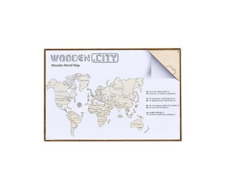 3D Holzpuzzle - Wooden City - Weltkarte (klein)