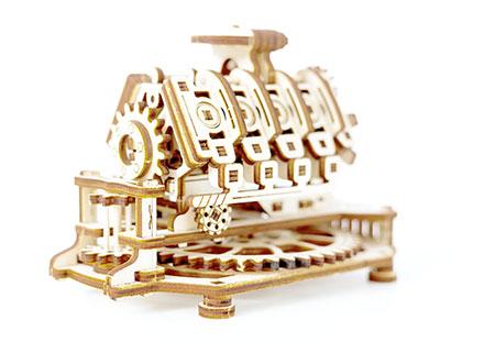 3D Holzpuzzle - Wooden City - V8 Motor