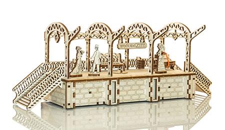 3D Holzpuzzle - Wooden City - Bahnhof