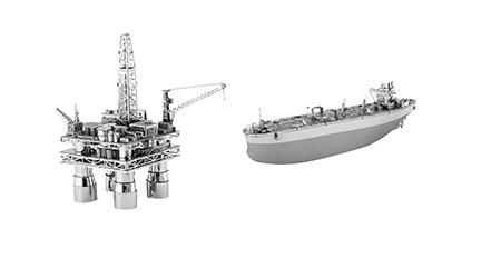Metal Earth - Ölplattform und Tanker