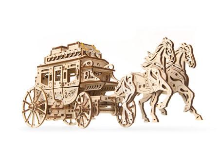 3D Holzpuzzle - Ugears - Postkutsche