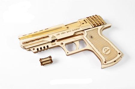 3D Holzpuzzle - Ugears - Pistole