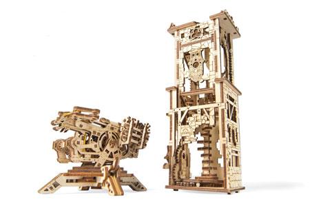 3D Holzpuzzle - Ugears - Balliste mit Schützenturm