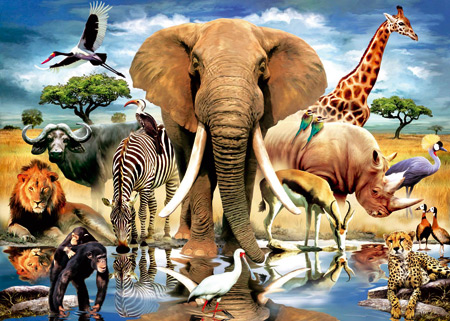 African Safari Wall Paintings