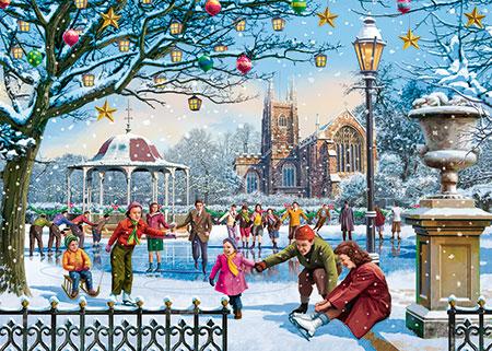 Schlittschuhlaufen am Weihnachtsabend