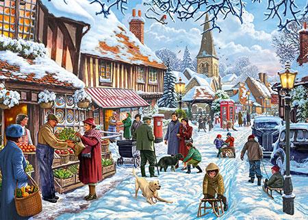 Wintereinkauf in der Stadt
