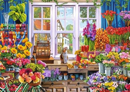Bunter Blumenladen
