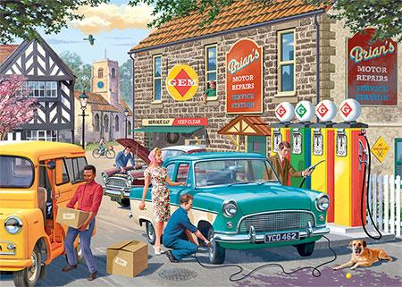 Nostalgische Tankstelle