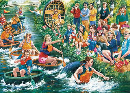 Die Coracle Regatta