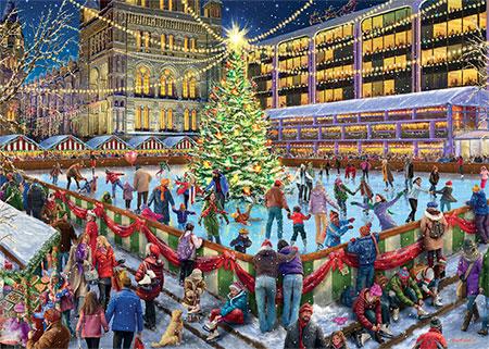 Die Eisbahn zu Weihnachten