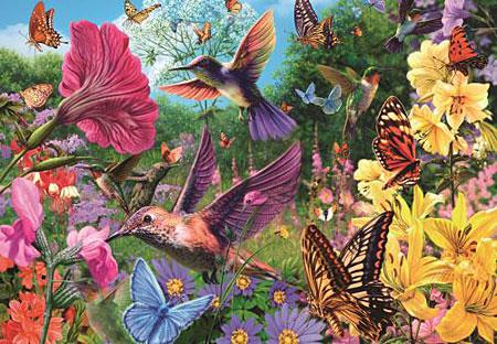 Ein Garten voller Kolibris