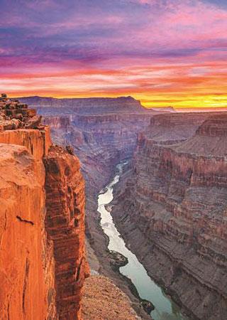 Abenddämmerung im Grand Canyon