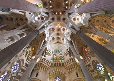 Decke der Basilika Sagrada Familia