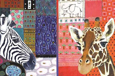 Zebra und Giraffe, Stoss