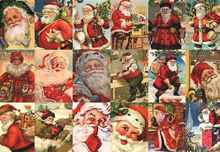 nostalgische-weihnachtsmann-collage