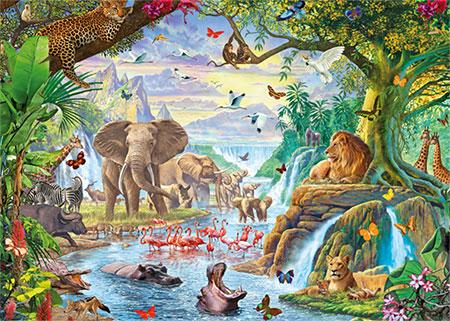 Dschungel See