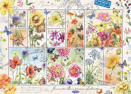 Briefmarken Sammlung Sommerblumen