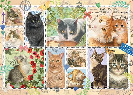 Briefmarken Sammlung Katzen