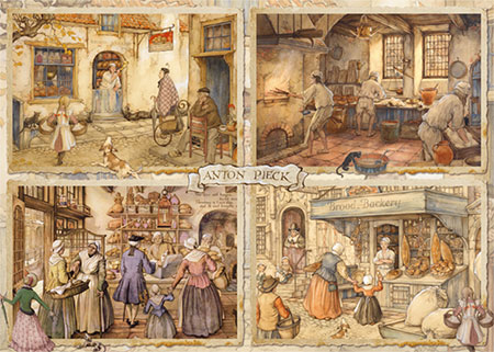Bäcker aus dem 19. Jahrhundert