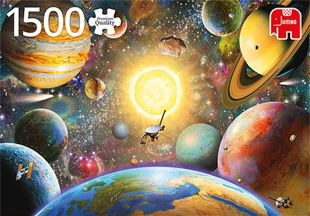 Schweben im Weltraum