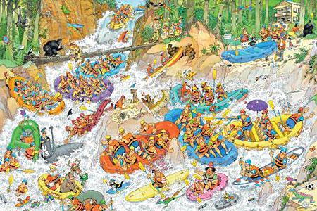 Wildwasser-Rafting (3000 Teile)