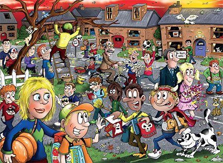 Puzzle Wasgij Junior 2 - Halloween