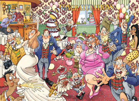 Turbulente Hochzeitsfeier