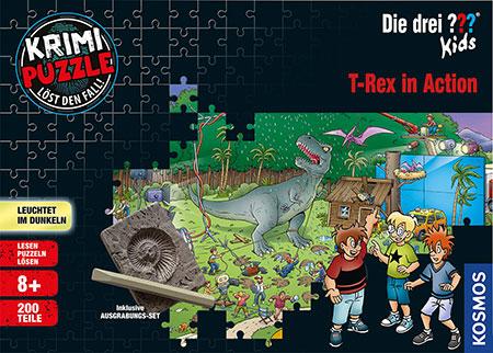 Die drei ??? Kids - T-Rex in Action (Krimipuzzle)