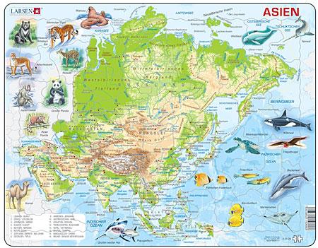 Asien mit Tieren