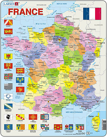 politische-karte-frankreich