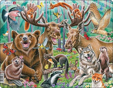 Fröhliche Waldtiere
