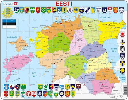 Politische Karte - Estland