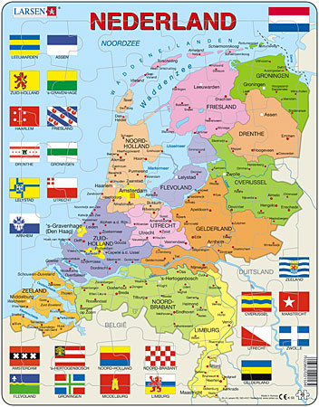 Politische Karte - Niederlande