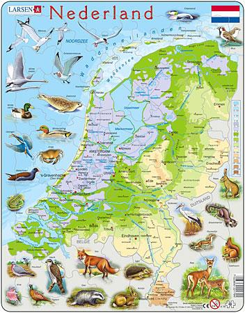 physische-karte-niederlande-mit-tieren